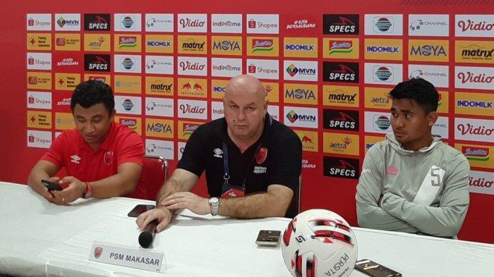 PSM Makassar Kantongi 4 Kartu Merah Dalam 5 Laga, Bojan Hodak Santai