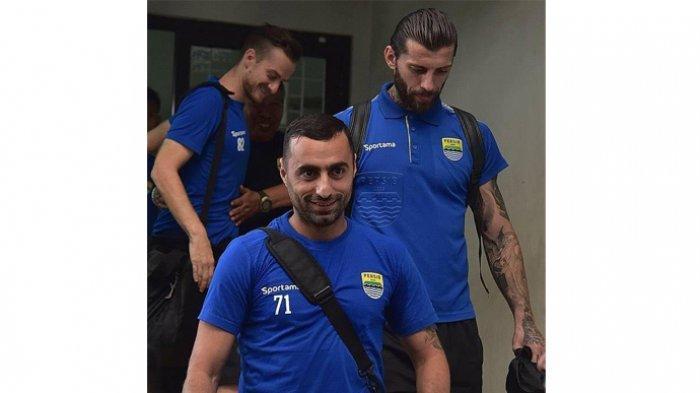 Bojan Malisic, Rene Mihelic, dan Artur Gevorkyan yang dilepas Persib Bandung pada putaran dua Liga 1 2019.