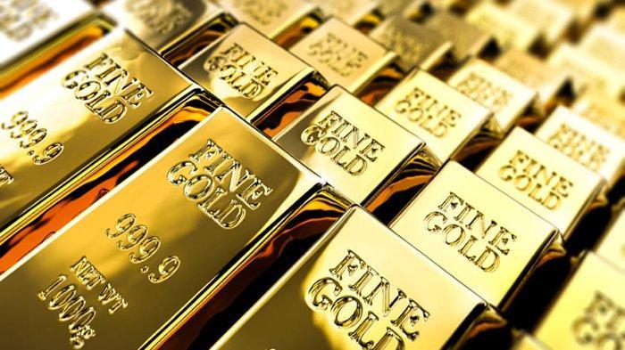 Bongkahan emas asli 24 karat.