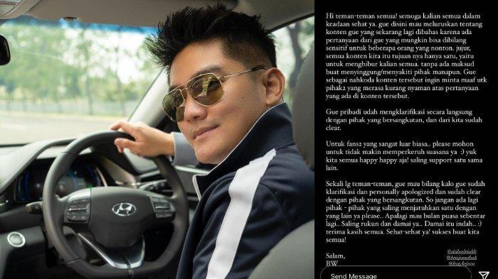 Boy William Minta Maaf soal Kisruh Lesti Kejora dan Siti Badriah: Jangan Ada yang Saling Menjatuhkan