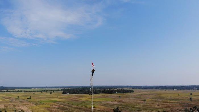 Cerita Polisi Teladan Polres Aceh Utara Panjat Tower Setinggi 60 Meter, Kibarkan Bendera Merah Putih