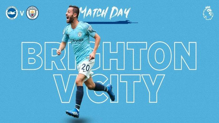 Live Streaming MNC TV Liga Inggris Brighton vs Manchester City, Tonton Lewat HP
