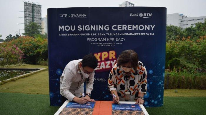 Genjot Pembelian Rumah, BTN Gandeng Citra Swarna Group Bidik Rp 50 Miliar