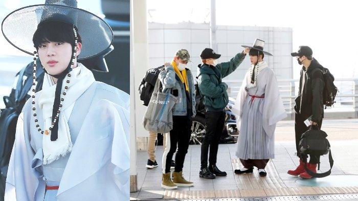 14 Momen Jin BTS 'Salah Kostum' ketika Bersama Para Member
