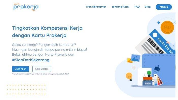 Buat Akun Prakerja di www.prakerja.go.id.