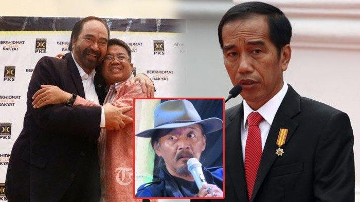 Budayawan Sudjiwo Tedjo mengomentari ekspresi Jokowi saat menyindir Surya Paloh.