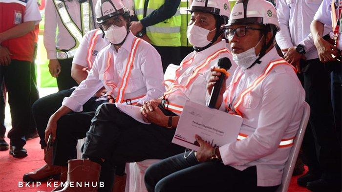 Menhub Tinjau Proyek Kereta Cepat Jakarta-Bandung