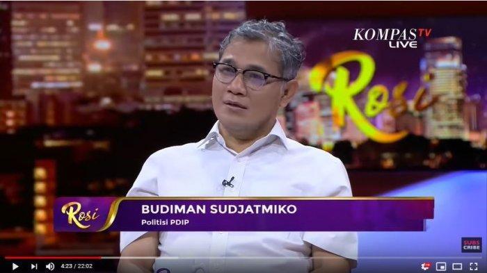 Budiman Sudjatmiko saat menjadi narasumber di Program Rosi, Kompas TV pada Kamis (28/11/2019).