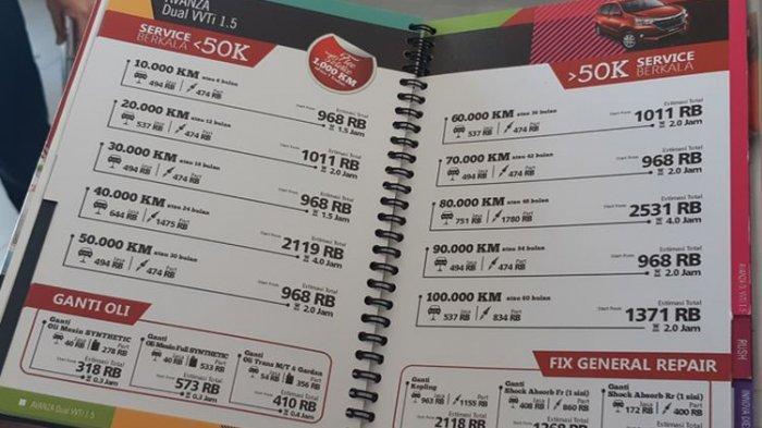 Bengkel Resmi Ini Bikin Daftar Layanan Dan Harga Layaknya Menu Di Restoran Tribunnews Com Mobile
