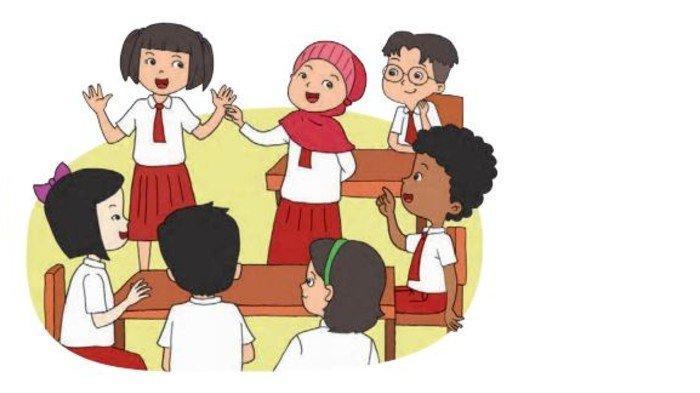 Buku Tematik Kelas 1 SD Tema 1 Subtema 2 Pembelajaran 2 Halaman 45