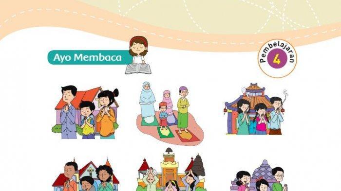 Kunci Jawaban Kelas 3 SD Tema 8  Buku Tematik Halaman 84 85 89 90: Pengamalan Sila Pertama Pancasila