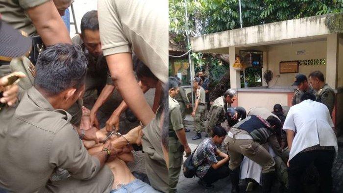Bule Jerman Bikin Onar di Denpasar, Ancam Tembak Warga hingga Telanjang Usai Dibawa Satpol PP