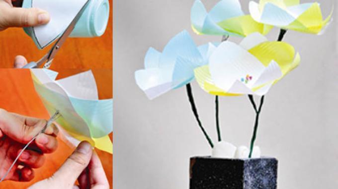 Sampah Gelas Plastik Sisa Pesta Tahun Baru Disulap Jadi Bunga Cantik Tribunnews Com Mobile