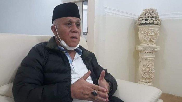 Bupati Aceh Tengah, Shabela Abubakar saat menjelaskan kronologi pengancaman oleh wakilnya sendiri, Kamis (14/5/2020) malam di Pendopo Bupati Aceh Tengah.(KOMPAS.com/ IWAN BAHAGIA SP)