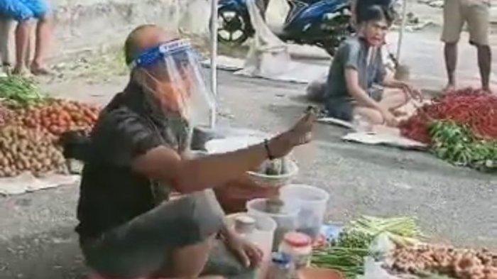 Nyamar Jadi Pedagang Pasar, Bupati Bengkulu Selatan: Jangan Beli Dagangan dari Penjual Tanpa Masker