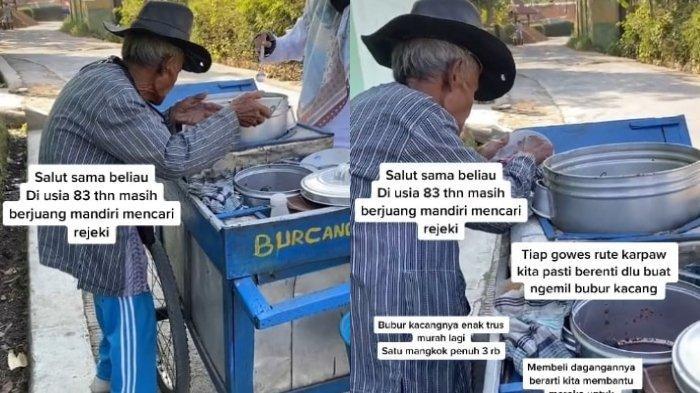 VIRAL Kisah Kakek 83 Tahun Penjual Bubur Kacang Hijau di Garut, Harganya Murah Agar Sekalian Sedekah