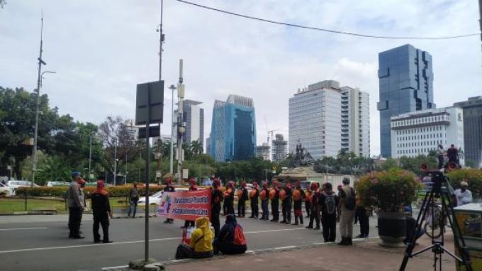 Elemen Buruh Kembali Demo, Tolak UU Cipta Kerja dan Minta Upah Buruh Naik
