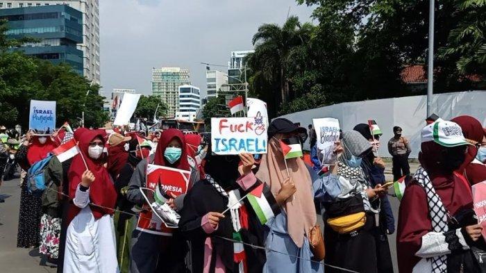 Alasan Buruh Demo untuk Solidaritas Palestina di Depan Kedubes Amerika