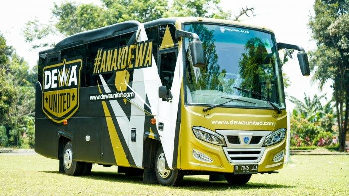 Pakai Karoseri Delima Jaya, Begini Penampakan Bus Medium Klub Bola Dewa United FC
