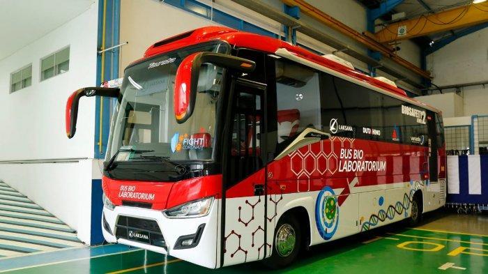 Bus Midi Hino FC 190 PS Ini Disulap Jadi Mobile PCR Lab Buat Ngetes yang Terpapar Covid-19