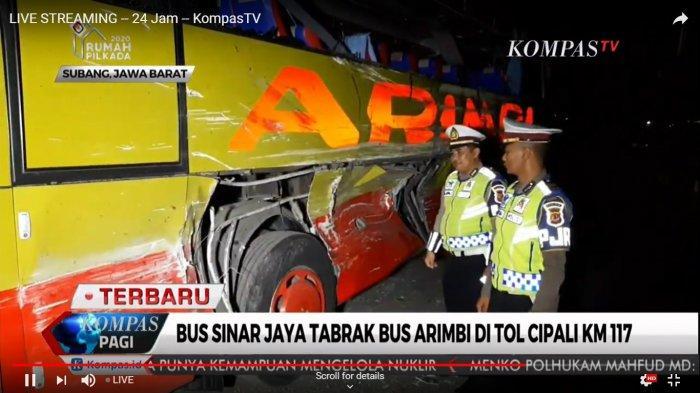 Kronologi dan Daftar Korban Tewas Kecelakaan Bus Sinar Jaya dan Bus Arimbi di Tol Cipali
