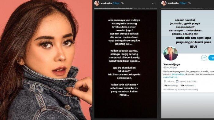 Tangkapan layar akun instagram Aura Kasih. (kompas.com)