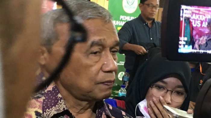 Mantan Ketua KPK Busyro Muqoddas saat ditemui di Gedung Dakwah Muhammadiyah, Gambir, Jakarta Pusat, Kamis (28/9/2017).