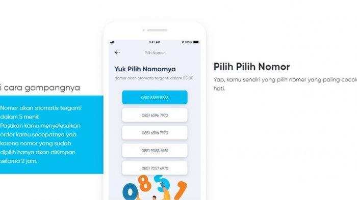 Cara memilih nomor di aplikasi by.U