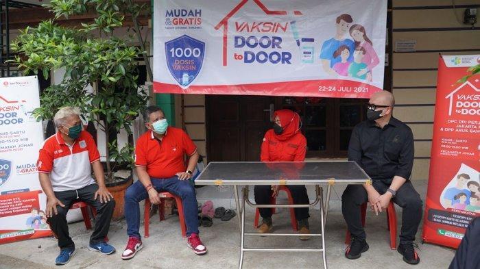 Kolaborasi DPC PDIP Jakpus dan ABJ, Hasto Kristiyanto Apresiasi Vaksinasi Covid-19 Door to Door