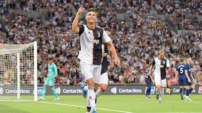 Cristiano Ronaldo saat tampil bersama Juventus.