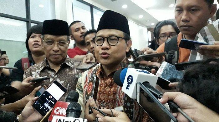 Ketua Umum Partai Kebangkitan Bangsa (PKB) Muhaimin Iskandar (Cak Imin) di kantor DPP PKB, Jalan Raden Saleh, Menteng, Jakarta Pusat, Senin (17/6/2019).