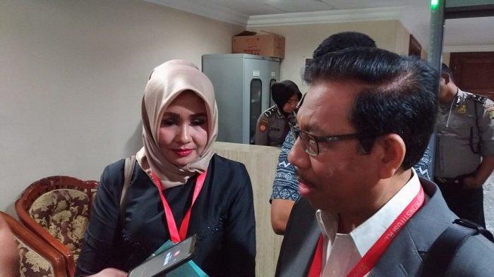 Calon Anggota DPD NTB Avi Apita Maya di Gedung MK, Jakarta Pusat, Kamis (18/7/2019).