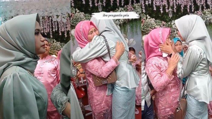 VIRAL Wanita Ini Tegar Datang ke Nikahan Mantan, Menangis saat Dipeluk Ibu Pengantin Pria