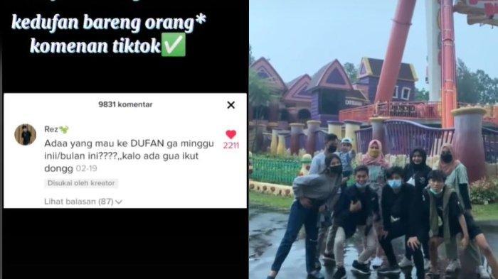 Viral Seorang Pria Ajak Netizen TikTok Liburan ke Dufan, Berawal dari Teman yang Menolak Ajakan