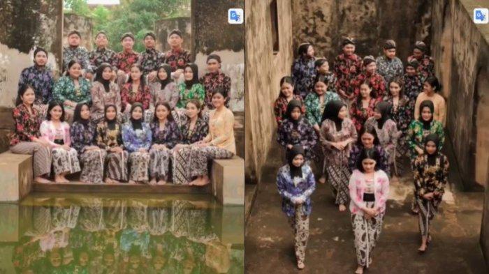 Kenang Momen Semasa Kuliah, Kumpulan Mahasiswa Ini Foto Pakai Baju Adat Jogja