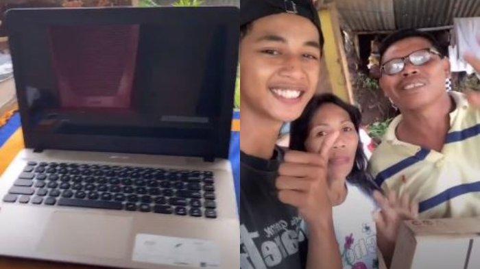 Pernah Diejek Tinggal di Rumah Kayu, Pemuda ini dapat Laptop dari Pengusaha