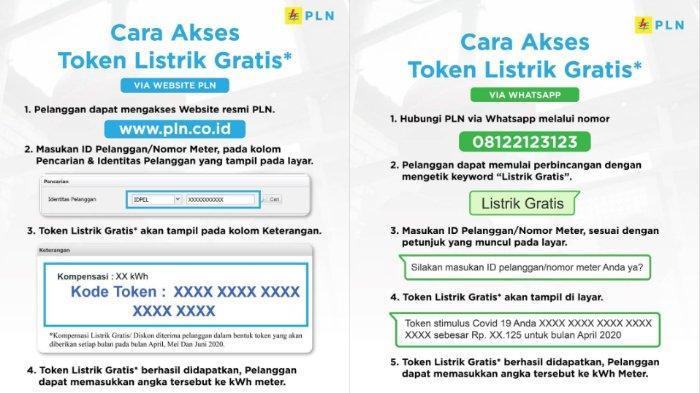 Cara akses token listrik gratis dari PLN selama tiga bulan.