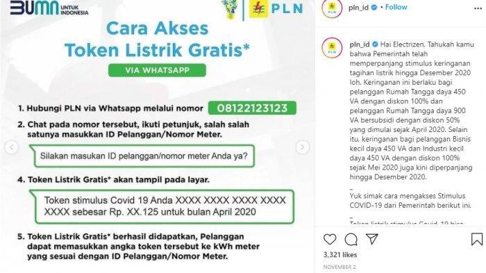 Cara akses token listrik gratis PLN dari WhatsApp -