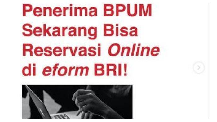LOGIN Link eform.bri.co.id/bpum, Cek Penerima BLT UMKM Rp 1,2 Juta, Bisa Mencairkan Tanpa Antre