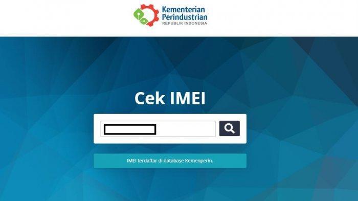 Cara Cek HP Resmi atau BM di imei.kemenperin.go.id (Tangkap layar imei.kemenperin.go.id)
