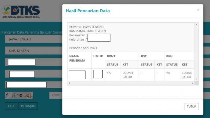 SEGERA Login cekbansos.kemensos.go.id untuk Cek Penerima Bansos PKH dan BPNT yang Cair Awal Mei 2021