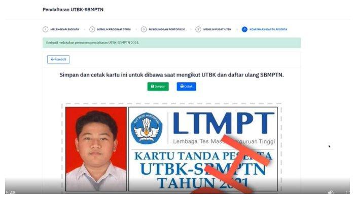 Unduh dan Cetak Kartu UTBK-SBMPTN 2021 Melalui Laman ltmpt.ac.id, Berikut Panduannya