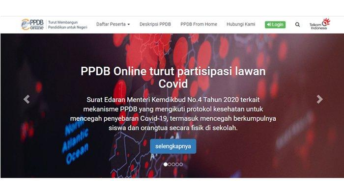 Cara Daftar PPDB Online 2020 (Tangkap Layar siap-ppdb.com)