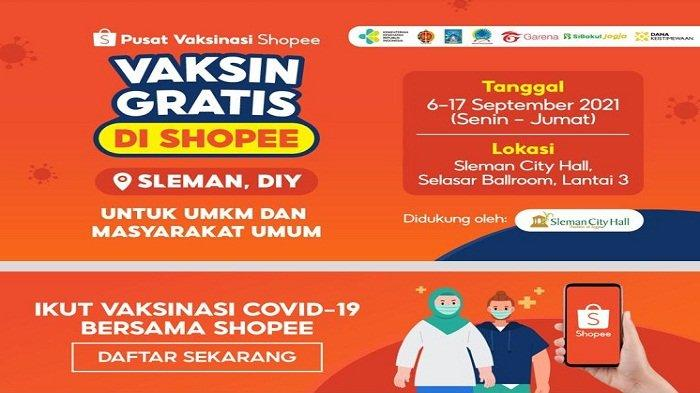Cara Daftar Vaksin Covid-19 Gratis di Shopee untuk Kota Yogyakarta Lengkap dengan Syaratnya