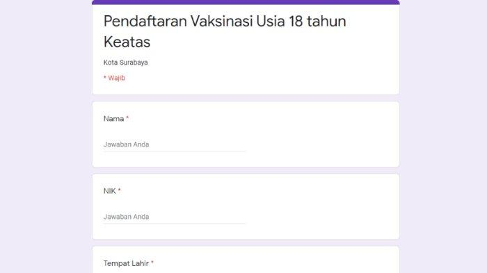 Cara Daftar Vaksinasi Covid-19 di Surabaya