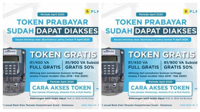 Cara Dapatkan Token Listik Gratis PLN atau Diskon 50 % bagi Pelanggan, Bisa Lewat WA & www.pln.co.id.