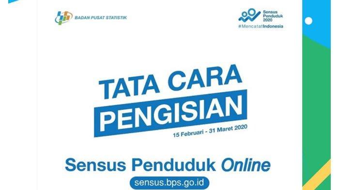 Isi Data Sensus Penduduk Online 2020 di Laman sensus.bps.go.id, Simak 6 Hal yang Perlu Diperhatikan!