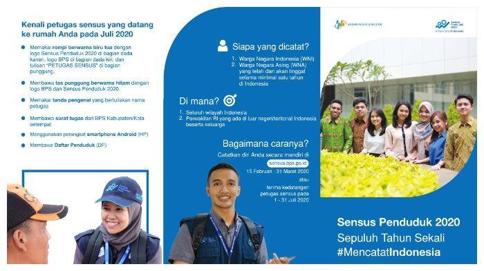 Lowongan Kerja Badan Pusat Statistik Jadi Petugas Sensus Penduduk 2020 Pendidikan Minimal Sma Tribunnews Com Mobile