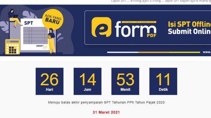 Segera Lapor SPT Tahunan Secara Online, Batas Akhir 31 Maret 2021, Ini Caranya