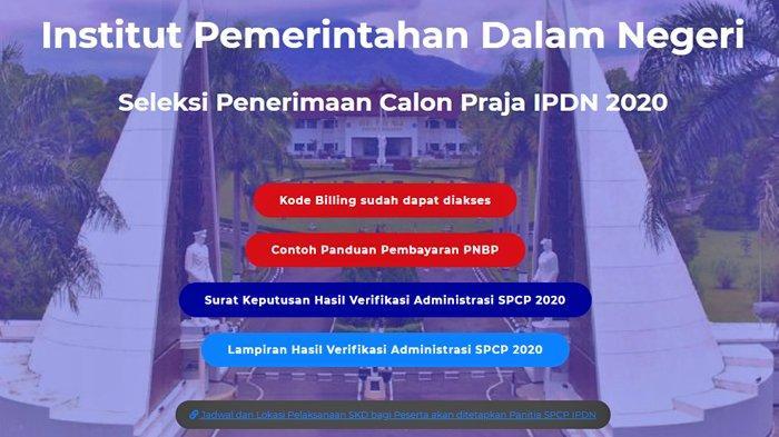 Cara Lihat Kode Billing untuk Pembayaran SKD Peserta SPCP IPDN Tahun 2020